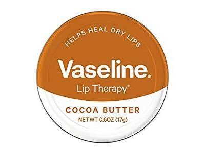 Vaseline Lip Therapy Lip Balm Tin, Cocoa Butter, 0.6 ounce