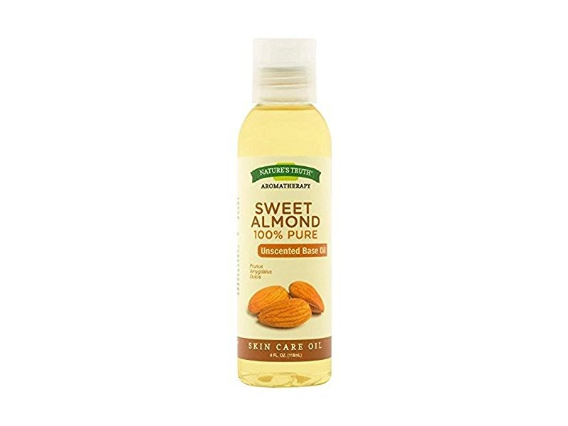 Nature's Truth Aromatherapy Pure Unscented Base Oil, Sweet Almond, 4 Fl oz