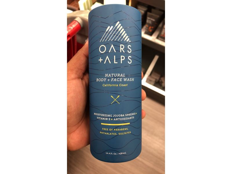 Oars + Alps Natural Body + Face Wash, California Coast, 14.4 fl oz