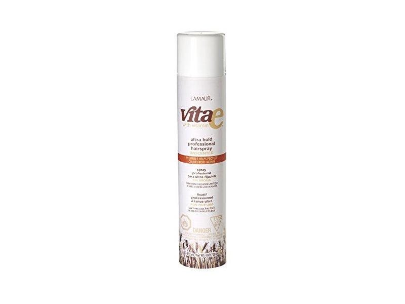 Lamaur Vita E Ultra Hold Professional Hair Spray, Unscented, 10 oz