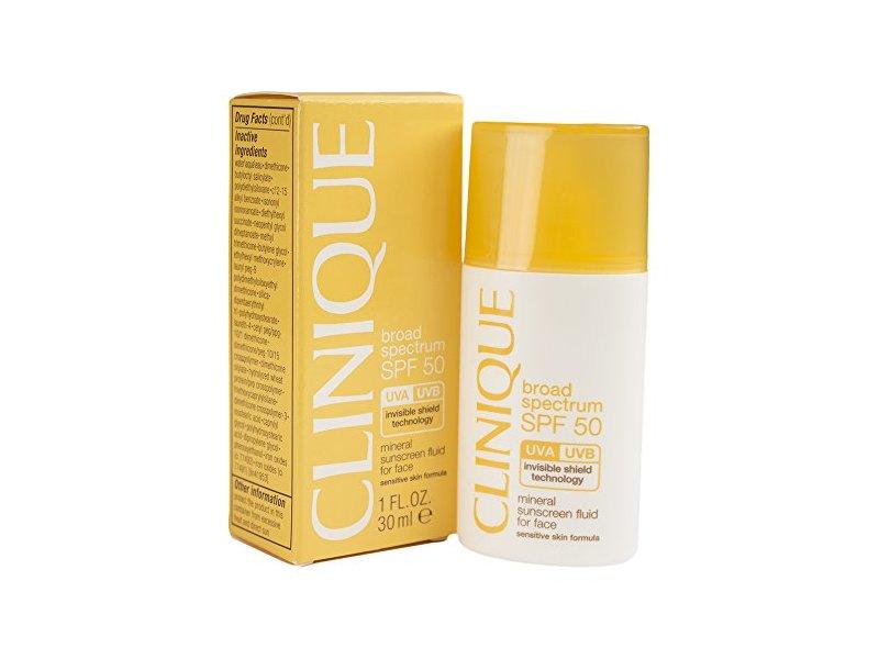 Clinique SPF 50 Mineral Sunscreen Fluid for Face, 1.0 fl oz/30mL