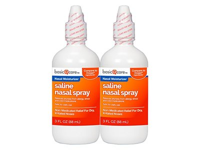 Basic Care Saline Nasal Spray Twin Pack, 6 Ounce - Image 1
