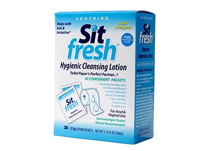 SitFresh Hygienic Cleansing Lotion, 1.75 fl oz (20 Packets)