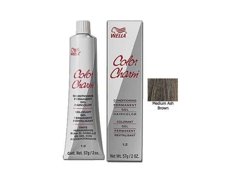 Gel Permanent Tube Hair Color 2374a Medium Ash Brown 2 Oz