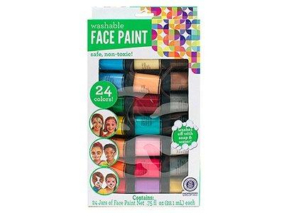 Horizon Group Face Paint Washable Paint Color Value Pack, 24 Jars
