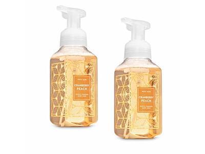 Bath & Body Works Cranberry Peach Gentle Foaming Hand Soap 2019, 8.75 fl oz