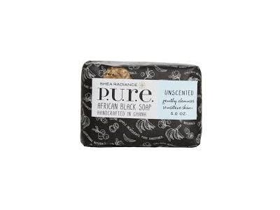 Shea Radiance P.U.R.E. African Black Soap, Unscented, 5 oz