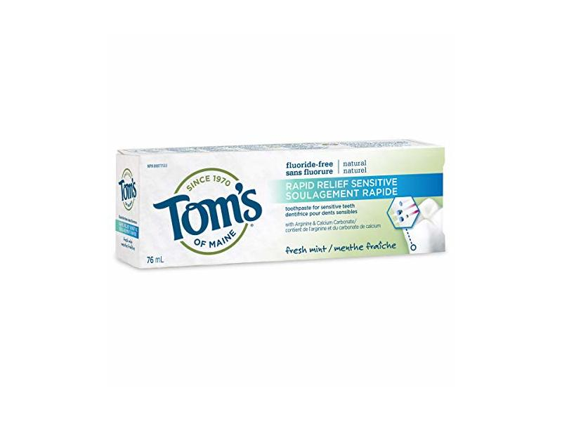 Tom's of Maine Sensitive Rapid Relief Toothpaste, Fresh Mint, 76 ml