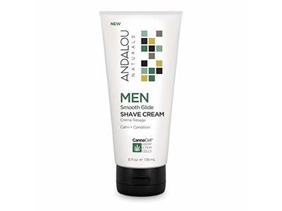 Andalou Naturals Men Smooth Glide Shave Cream with CannaCell, 6 Ounce