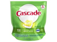 Cascade ActionPacs Dishwasher Detergent, Lemon Scent, 32 count - Image 2