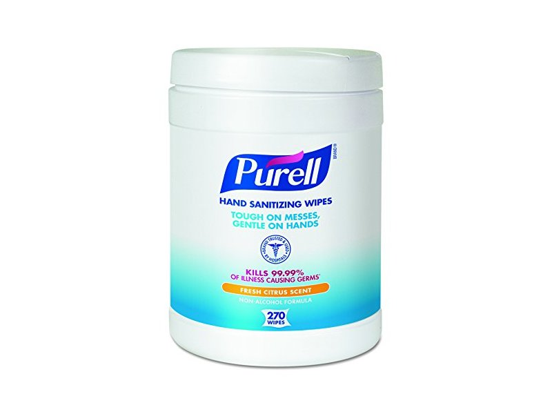 PURELL Hand Sanitizing Wipes, Fresh Citrus Scent, 270 Count