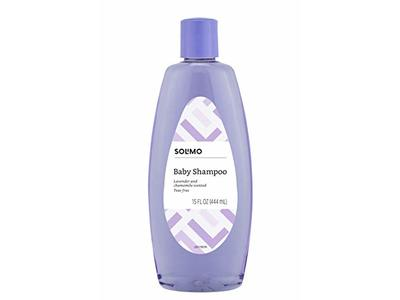 Amazon Brand - Solimo Baby Shampoo, Lavender & Chamomile Scented, 15 Fluid Ounce