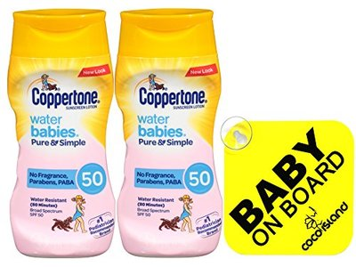 Coppertone WaterBabies Pure & Simple Mineral Based Lotion, 6 fl oz (2 pack)