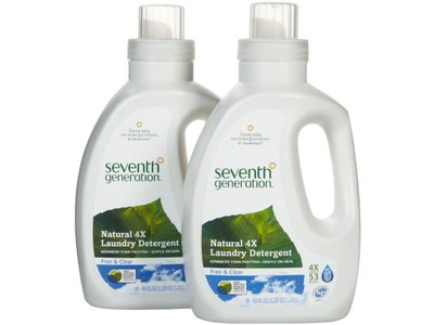 Seventh Generation Laundry Detergent, Free & Clear - Image 1