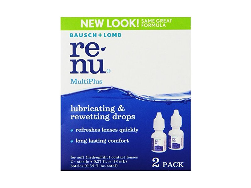 Bausch & Lomb ReNu MultiPlus Lubricating & Rewetting Drops, 0.27-Ounce