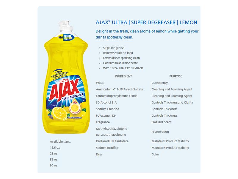 Ajax Dishwashing Liquid, Super Degreaser, Lemon, 90 fl oz