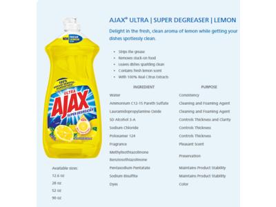 Ajax Dishwashing Liquid, Super Degreaser, Lemon, 90 fl oz - Image 1