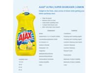 Ajax Dishwashing Liquid, Super Degreaser, Lemon, 90 fl oz - Image 2