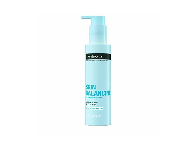Neutrogena Skin Balancing Purifying Gel Cleanser, 2% Polyhydroxy Acid, 6.3 fl oz/186 mL