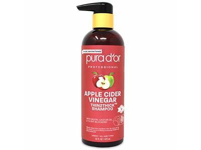 PURA D'OR Apple Cider Vinegar Thin2Thick Shampoo, 16 fl oz/473 mL