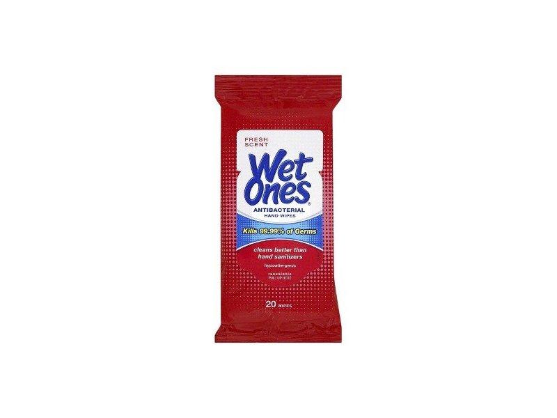 Wet Ones Antibacterial Hand Wipes 20 Ct Travel Pack