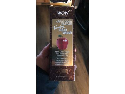 Wow Apple Cider Vinegar Foaming Face Wash, 100ml - Image 3
