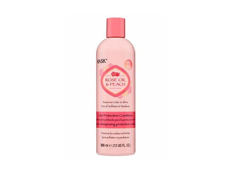 Hask Rose Oil & Peach Conditioner, 12 fl oz/355 mL