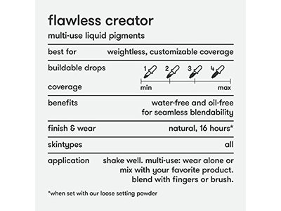 Dermablend Flawless Creator Liquid Foundation Makeup Drops, Oil-Free, Water-Free, 45C, 1 Fl. Oz. - Image 9