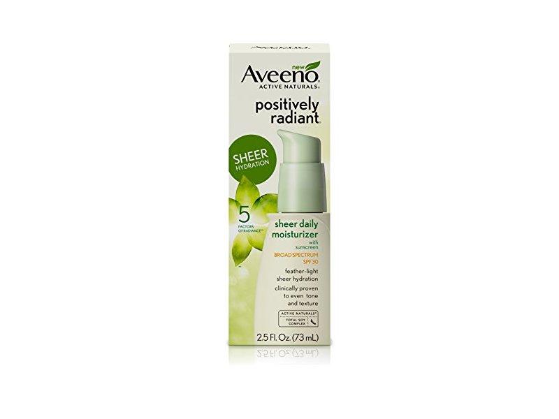 Aveeno Positively Radiant Sheer Daily Moisturizer, SPF 30, 2.5 fl. oz