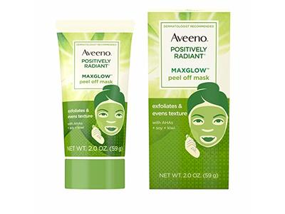 AVEENO Positively Radiant MaxGlow Peel Off Exfoliating Face Mask 2 oz - Image 3