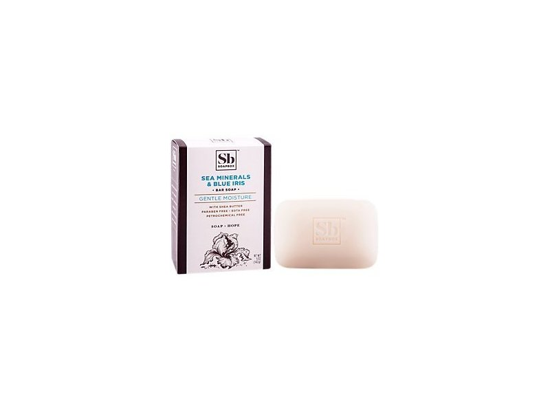 Soapbox Sea Minerals & Blue Iris Bar Soap, 5 oz