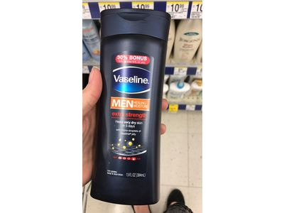 Vaseline Men Extra Strength Body and Face Lotion, 13oz - Image 4