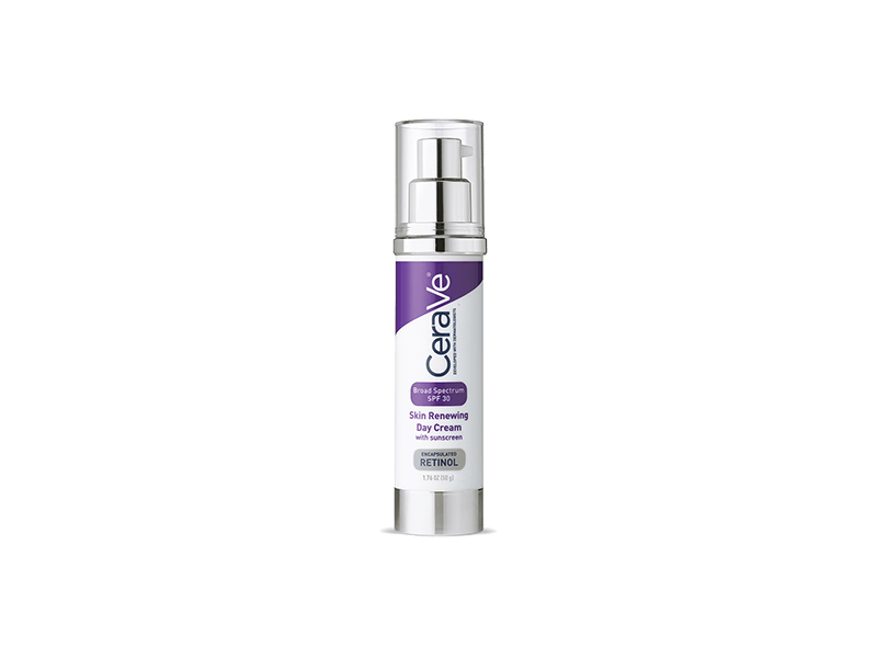 CeraVe Skin Renewing Day Cream with Sunscreen SPF 30, 1.76 mL
