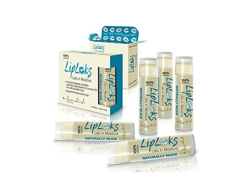 Candid Essentials Organic Unflavored Lip Balm, 5 pack