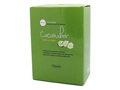 Celavi Essence Facial Mask Paper Sheet, (Cucumber), 24 pack
