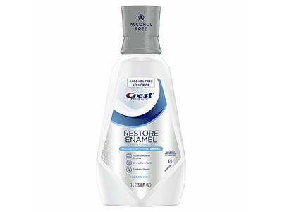 Crest Pro-Health Restore Enamel Mouthwash, Clean Mint, Alcohol Free, 33.8 fl oz/1 L