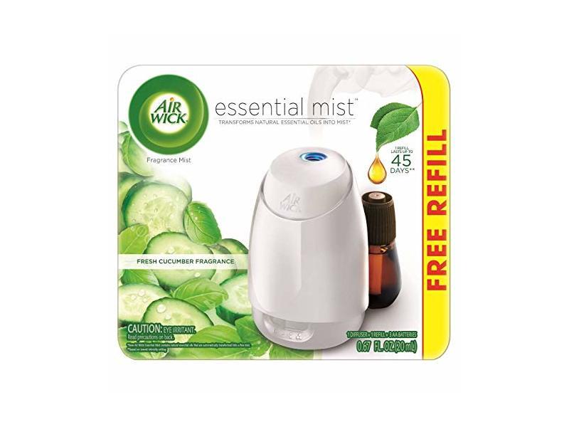 Air Wick Fresh Cucumber Fragrance Essential Mist with Free Refill, 0.67 fl oz