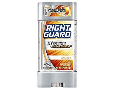 Right Guard Xtreme Heat Shield Antiperspirant Gel, Mirage, 4 oz (Pack of 4)