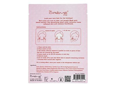 The Creme Shop - Oh Deer! Holiday Detoxifying Lemon Face Sheet Mask - 1 Count Limited Edition - Image 3