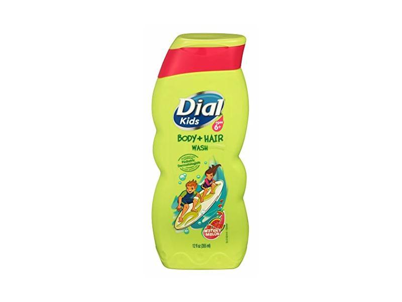 Dial Kids Body + Hair Wash, Watery Melon, 12 fl oz