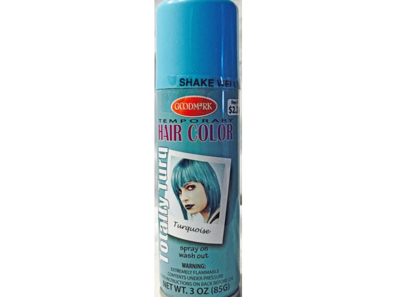 Goodmark Temporary Hair Color, Turquoise, 3 oz (Pack of 2)