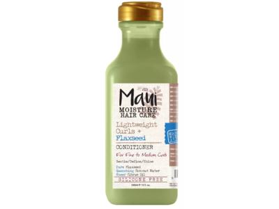 Maui Moisture Hair Care Conditioner, Lightweight Curls + Flaxseed, Fine To Medium Curls, Silicone Free, 13 fl oz/385 mL