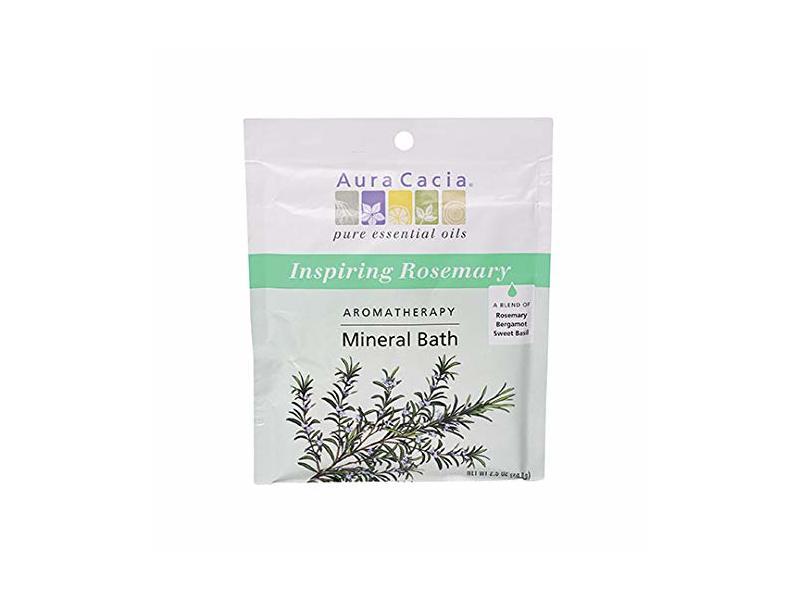 Aura Cacia Inspiring Rosemary Aromatherapy Mineral Bath, 2.5 oz.