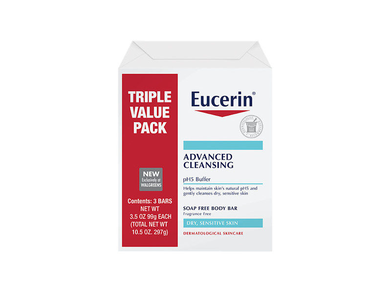 Eucerin Advanced Cleansing pH5 Buffer Beauty Bar, 3.5 oz