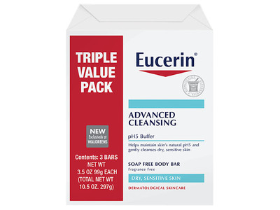 Eucerin Advanced Cleansing pH5 Buffer Beauty Bar, 3.5 oz - Image 1