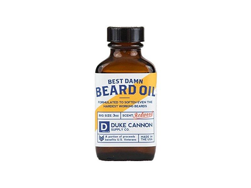 Duke Cannon Best Damn Beard Oil, Redwood, 3 Ounce