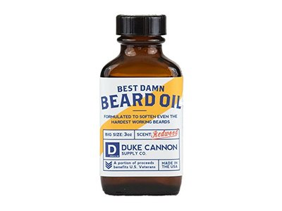 Duke Cannon Best Damn Beard Oil, Redwood, 3 Ounce - Image 1