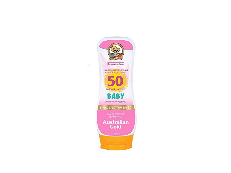 Australian Gold Baby SPF 50 Lotion Sunscreen, 8 Fl Oz