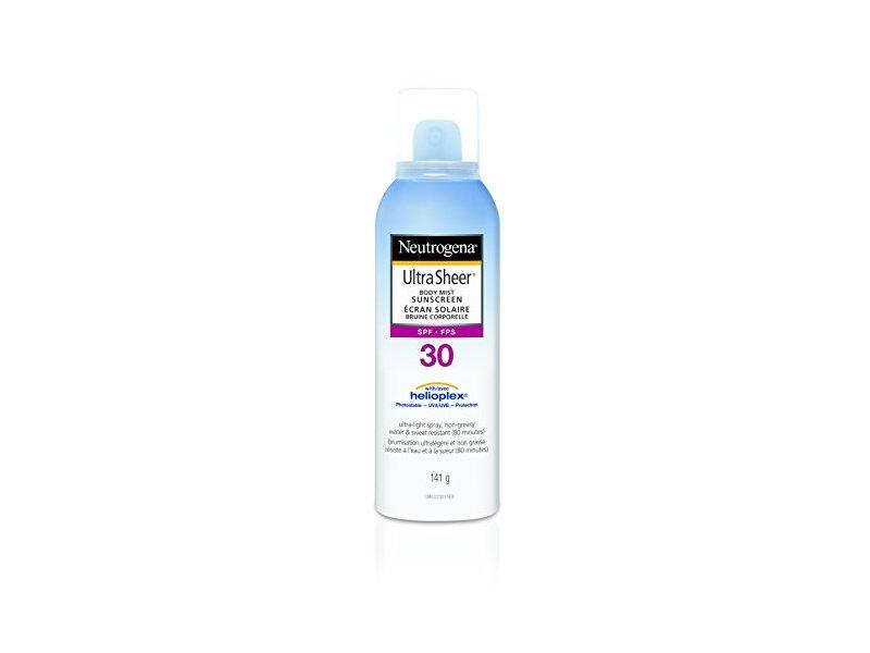 Neutrogena Ultra Sheer Body Mist Sunscreen, SPF 30, 141 g