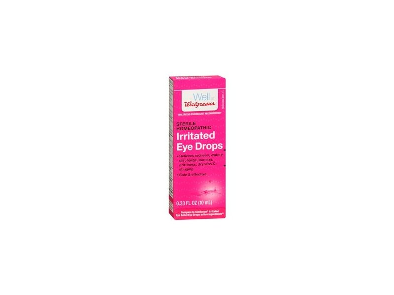 Walgreens Sterile Homeopathic Irritated Eye Relief Drops, .33 oz